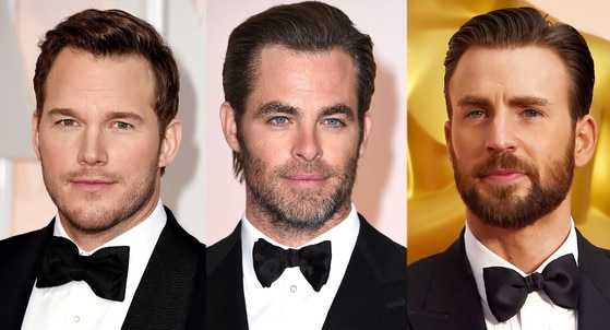 Men Hair Trends, Chris Pratt, Chris Pine, Chris Evans