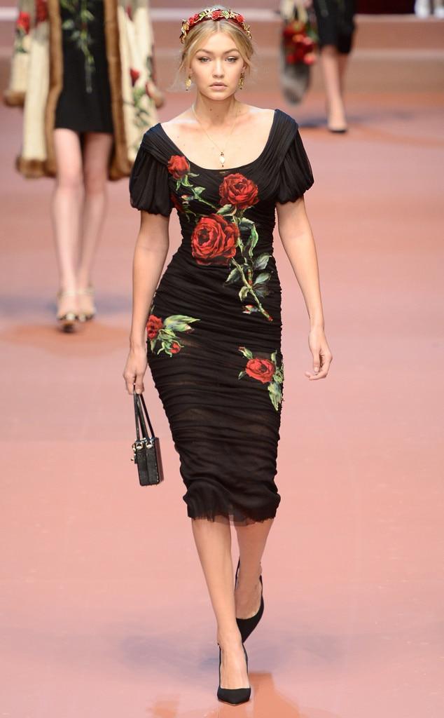 Dolce gabbana fall 2015 from gigi hadid 39 s runway shows for Gigi hadid fashion week