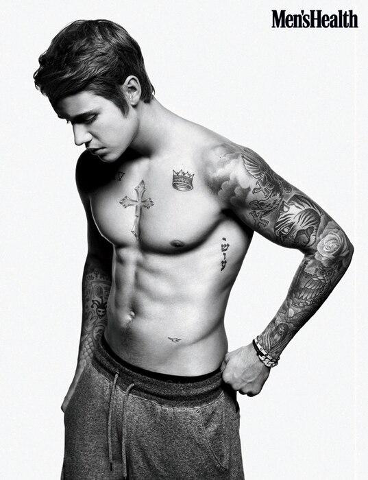 Justin Bieber, Men's Health