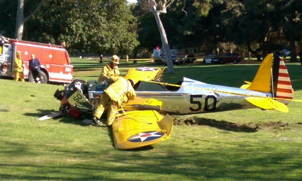 Plane Crash, Harrison Ford