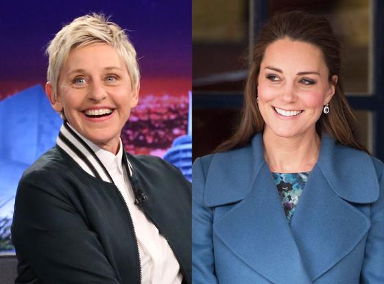 Celebs Related to Royals, Ellen DeGeneres, Kate Middleton