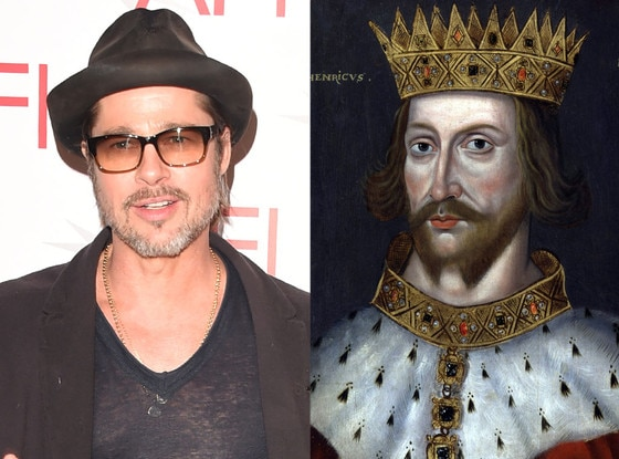 Celebs Related to Royals, Brad Pitt, King Henry the II of England