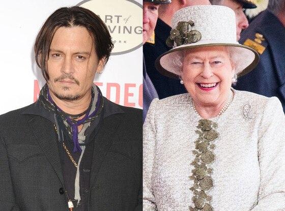 Celebs Related to Royals, Johnny Depp, Queen Elizabeth II