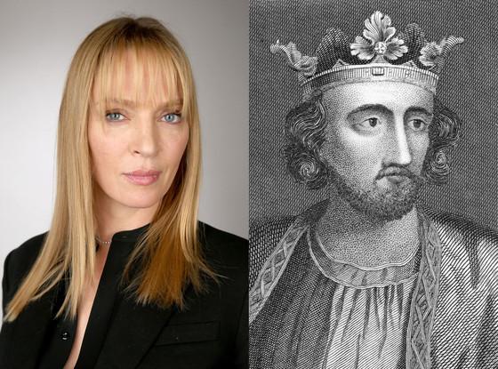 Celebs Related to Royals, Uma Thurman, King Edward I of England