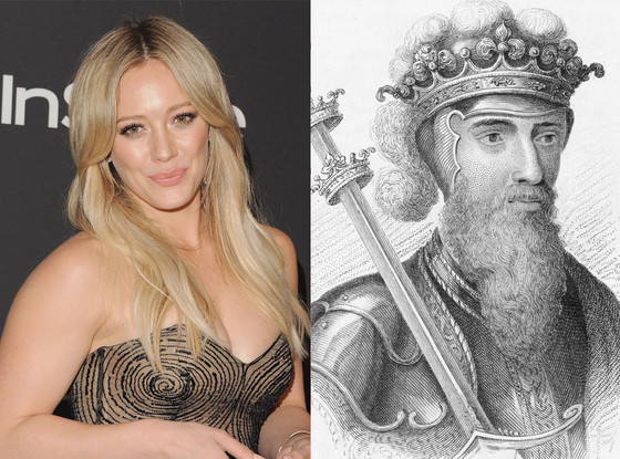 Celebs Related to Royals, Hilary Duff, King Edward III of England