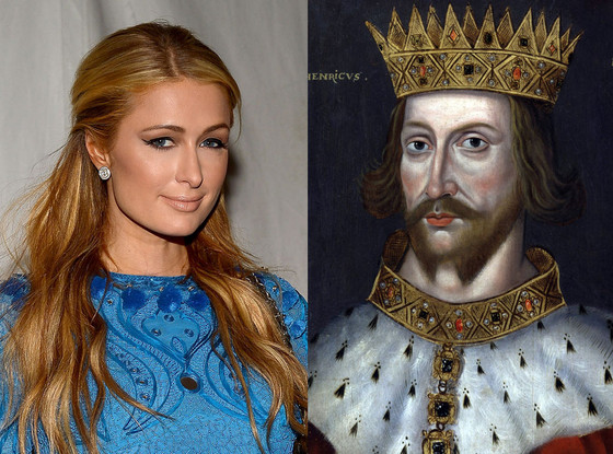 Celebs Related to Royals, Paris Hilton, King Henry the II of England