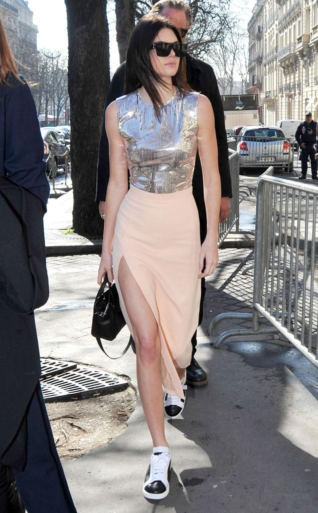 Metallic Crop From Kendall Jenner 39 S Street Style E News