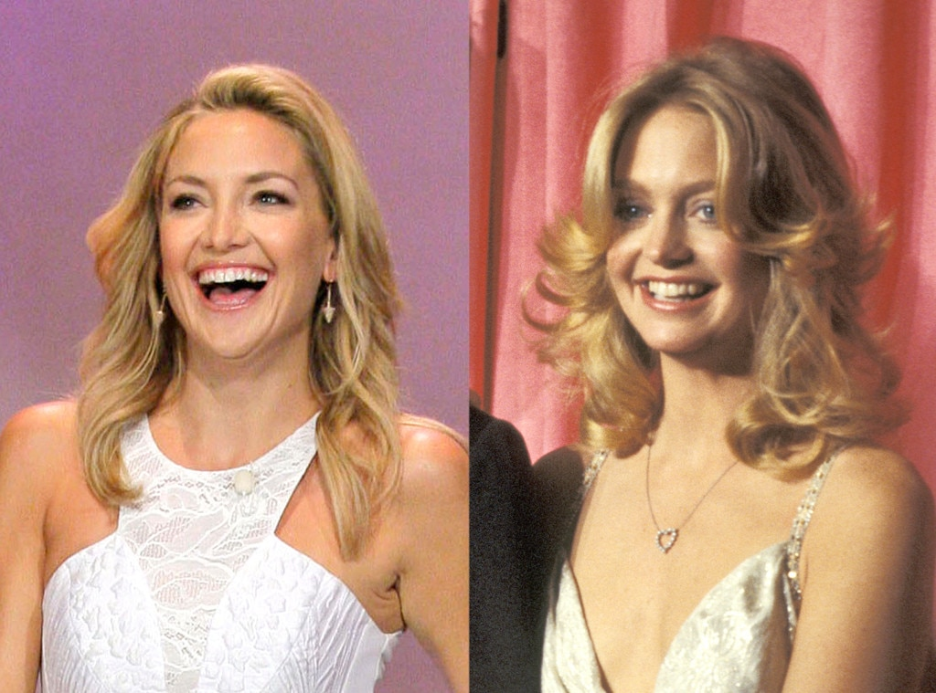 Kate Hudson & Goldie Hawn from Stars & Their Mini-Me Kids ...
