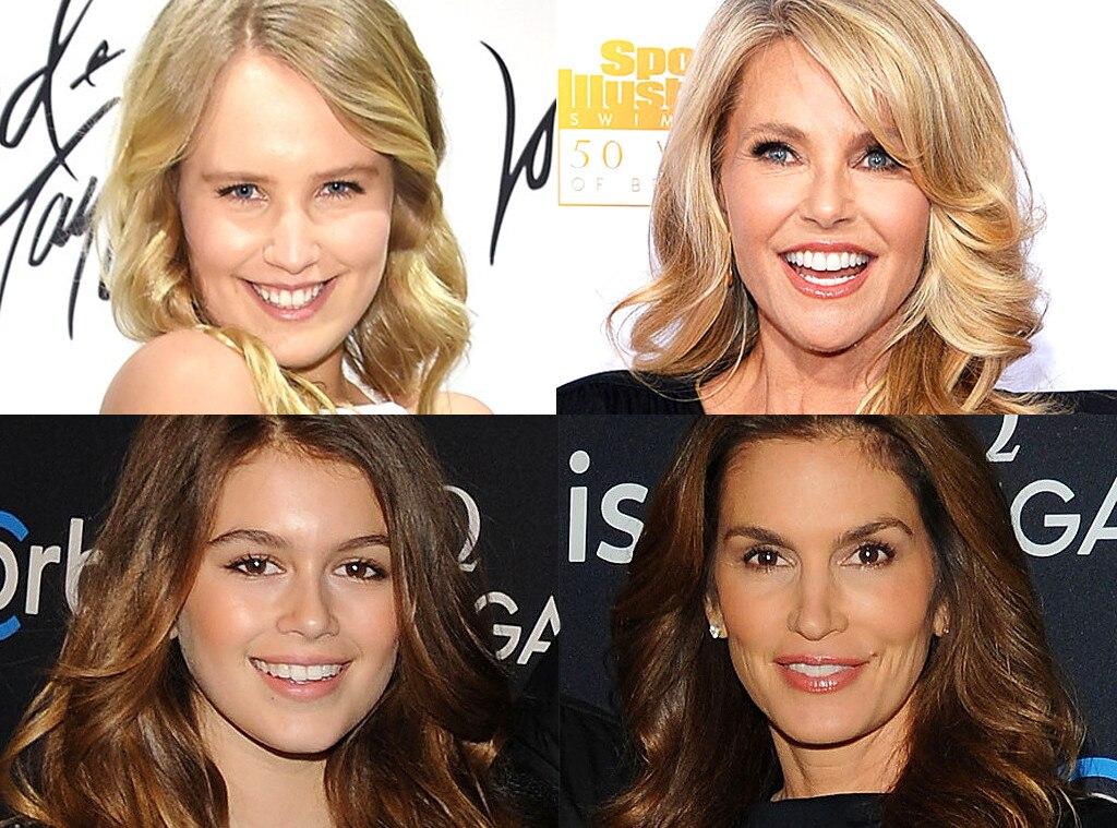 Christie Brinkley, Sailor Brinkley Cook, Kaia Gerber, Cindy Crawford, Model Parents and Mini Me's