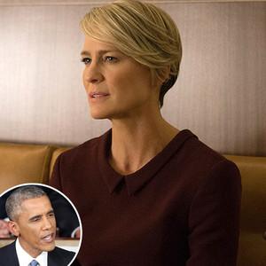 Robin Wright, Barack Obama, House of Cards, Season 3
