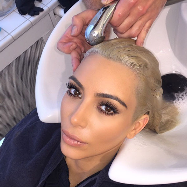 Kim Kardashian, Hair, Instagram