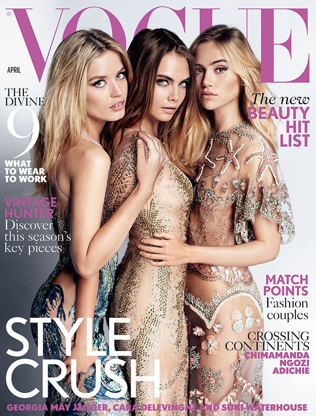 Suki Waterhouse, Cara Delevingne, Georgia May Jagger, Vogue UK