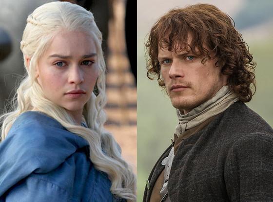 Game of Thrones, Emilia Clarke, Outlander, Sam Heughan