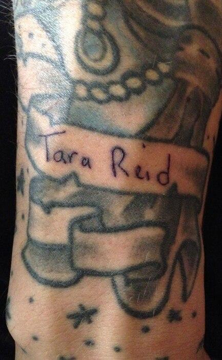 Tara Reid, Tattoo