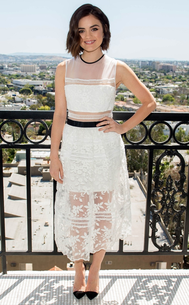Lovely In White From Lucy Hale 39 S Best Looks E News