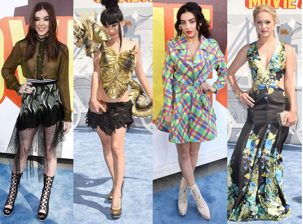 Worst Dressed, Hailee Steinfeld, Bai Ling, Charlie XCX, Greer Grammer, MTV Movie Awards