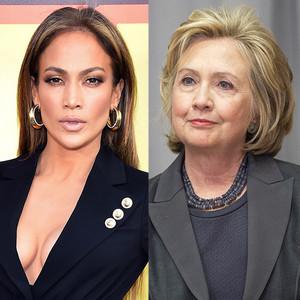 Jennifer Lopez, Hillary Clinton