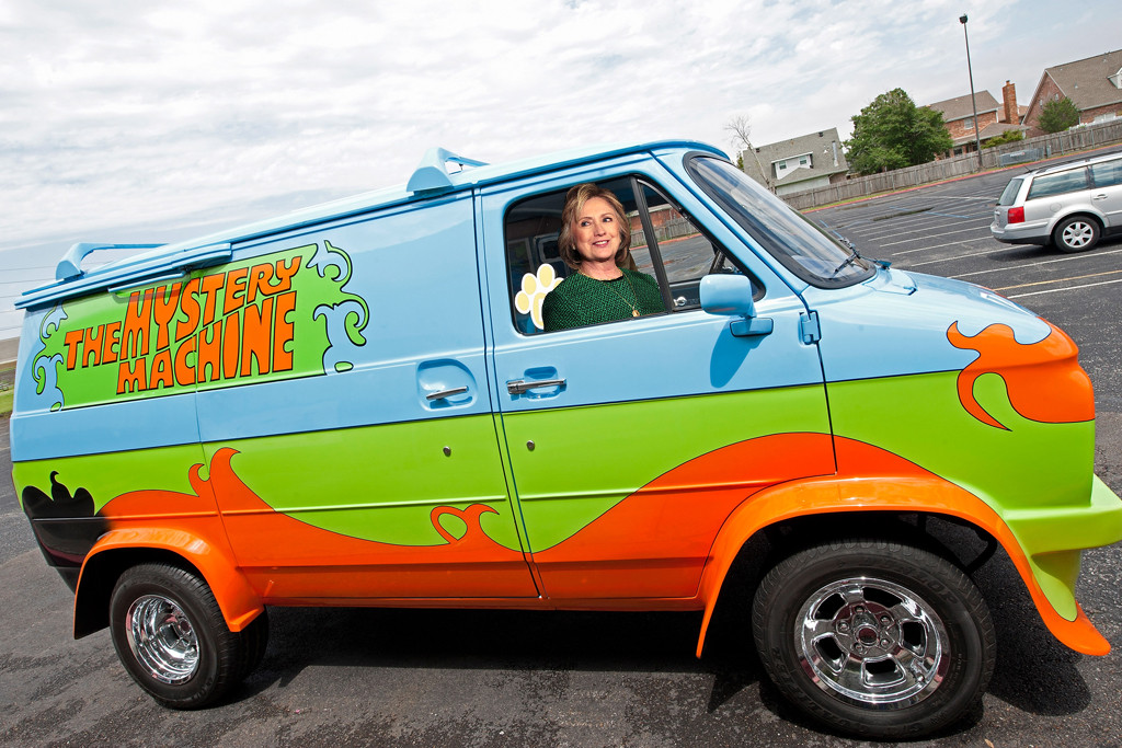 Hillary Clinton, Scooby, Mystery Machine