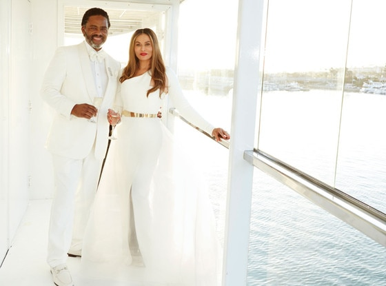 Tina Knowles, Richard Lawson, Wedding