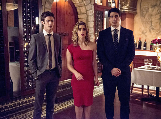 The Flash, Grant Gustin, Emily Bett Rickards, Brandon Routh