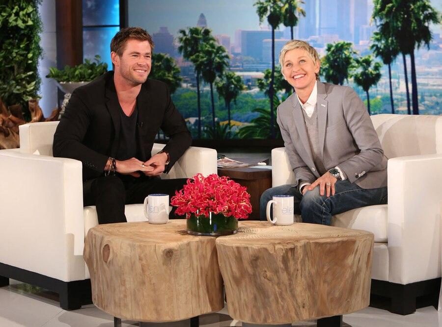 Chris Hemsworth, Ellen DeGeneres