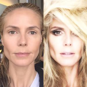 Heidi Klum, Makeup