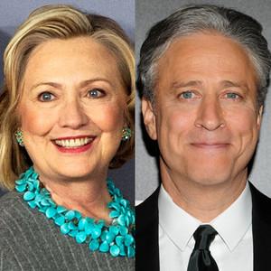 Jon Stewart, Hillary Clinton