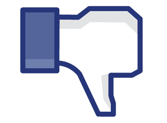 Facebook, Dislike, Thumbs Down