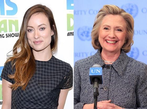 Olivia Wilde, Hillary Clinton