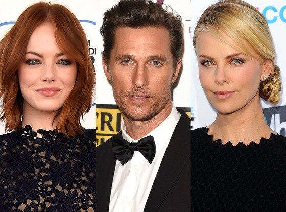 Emma Stone, Matthew McConaughey, Charlize Theron