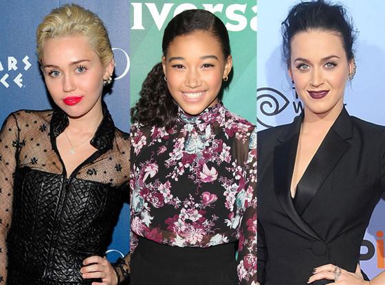 Miley Cyrus, Amanda Stenberg, Katy Perry