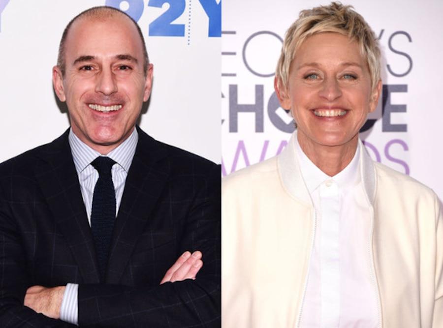 Matt Lauer, Ellen DeGeneres
