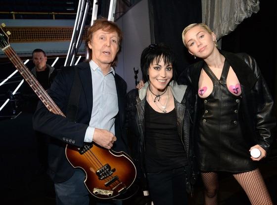 Paul McCartney, Joan Jett, Miley Cyrus