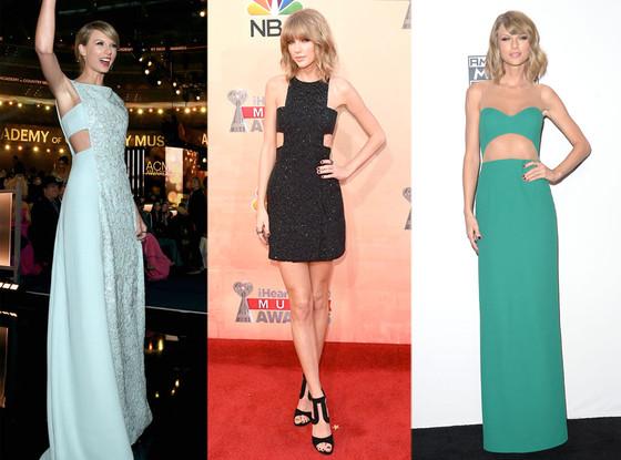 Taylor Swift, Cutout Dresses