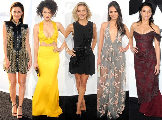Furious 7 Best Looks, Jordana Brewster, Nathalie Emmanuel, Michelle Rodriguez, Elsa Pataky, Maria Menounos