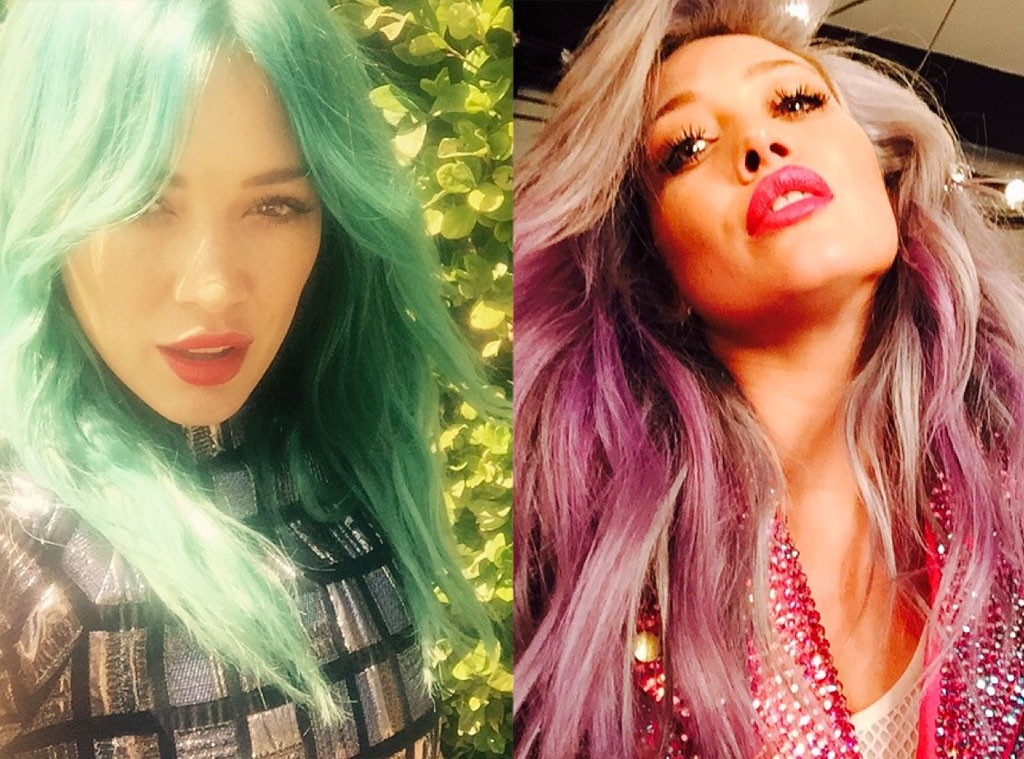 hilary duff from celebrities changing hair color e news