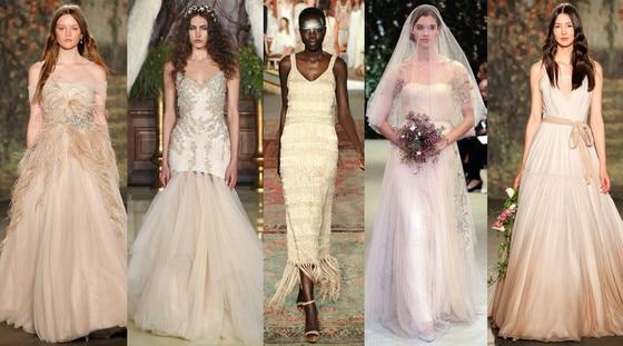 Nude Wedding Dresses, 2016 Spring Bridal