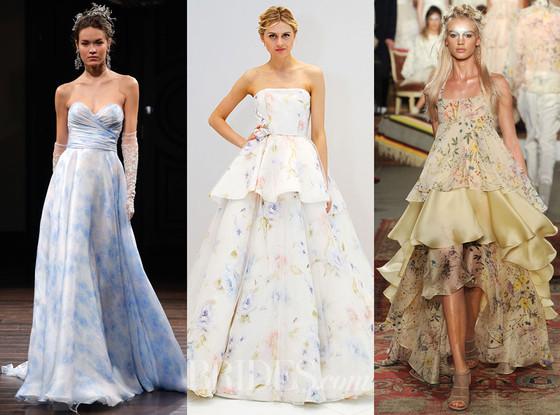 Floral Wedding Dresses, 2016 Spring Bridal