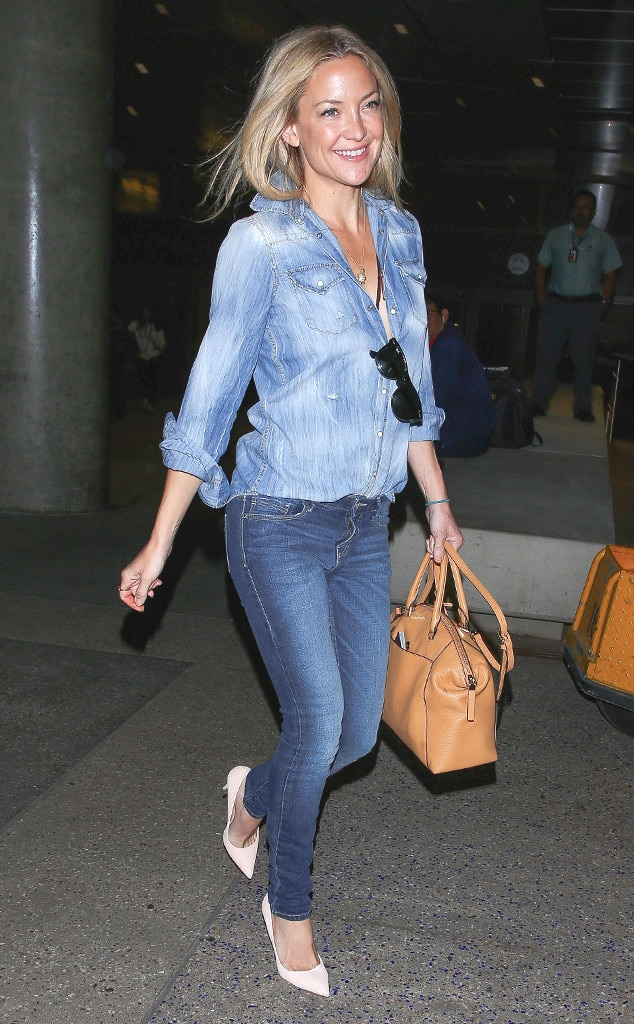 Double Denim From Kate Hudson 39 S Street Style E News