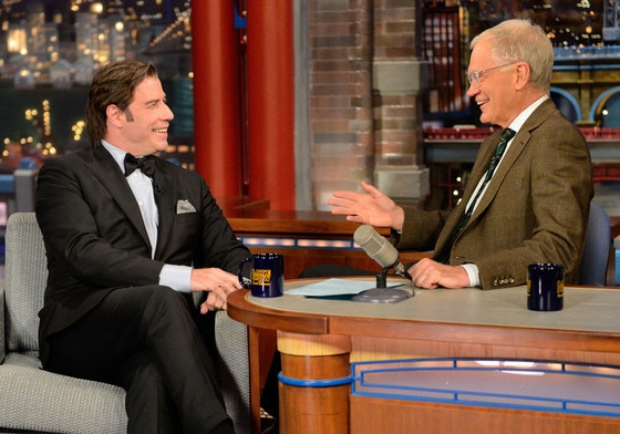 John Travolta, The Late Show with David Letterman