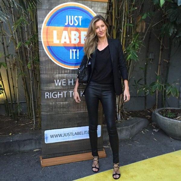 Gisele Bündchen at the Just Label It Event from Marc ... Gisele Bundchen Instagram