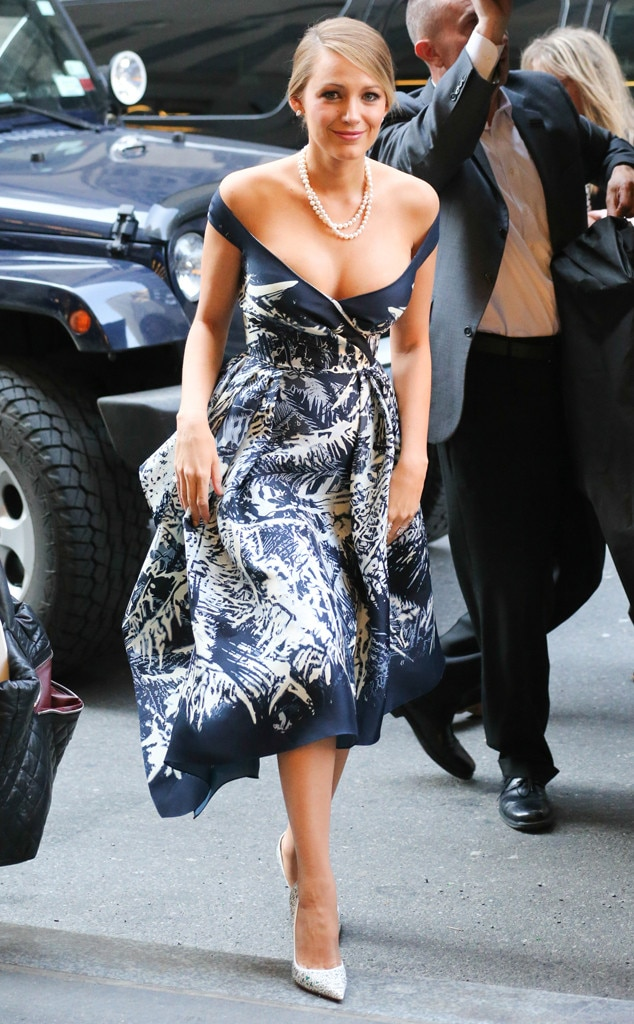 Pretty In Print From Blake Lively 39 S Best Looks E News