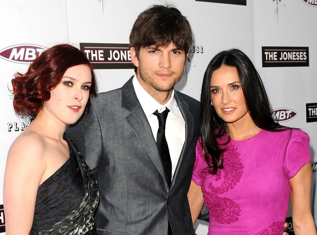 Rumer Willis, Ashton Kutcher, Demi Moore