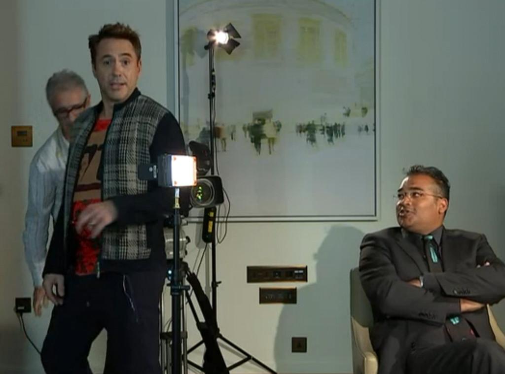Robert Downey Jr, Walks out of Interview