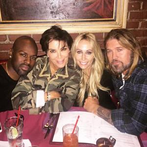 Corey Gamble, Kris Jenner, Tish Cyrus, Billy Ray Cyrus