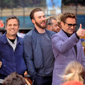 Cast of Avengers, Robert Downey Jr., Chris Evans, Mark Ruffalo, Jeremy Renner