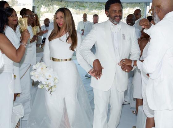 Tina Knowles Richard Lawson Beyonce Jay Z Blue Ivy Wedding