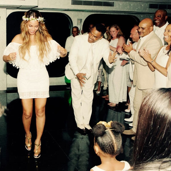 Tina Knowles, Richard Lawson, Beyonce, Jay-Z, Blue Ivy, Wedding