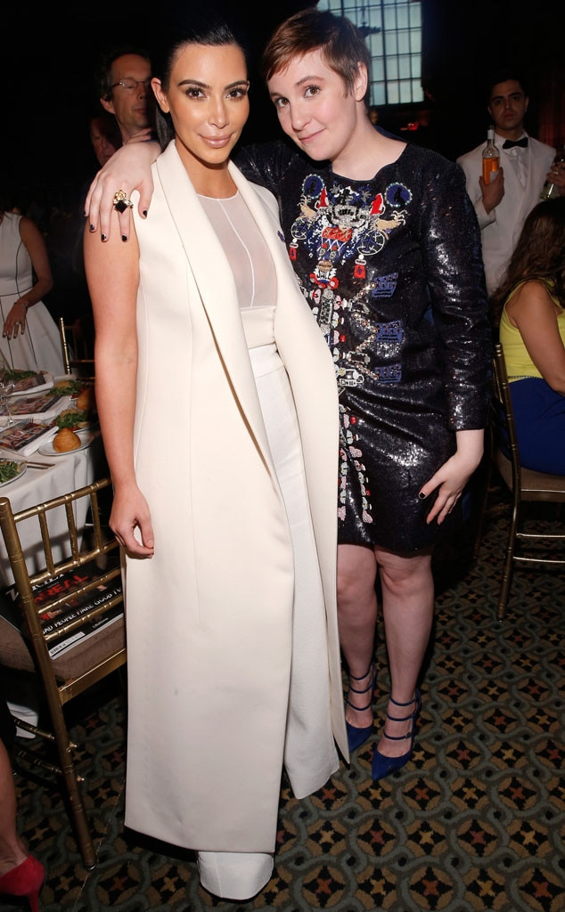 Kim Kardashian, Lena Dunham