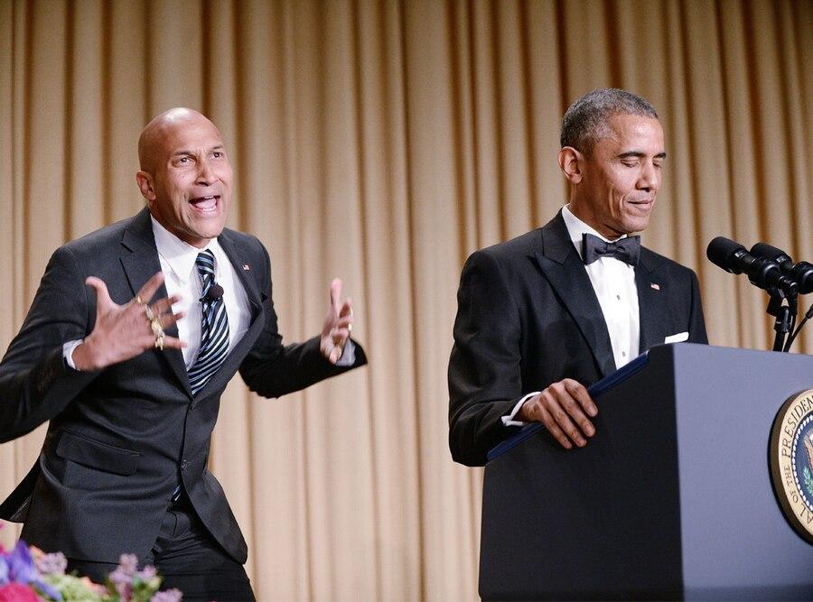 Celebs With Obama, Keegan-Michael Key, Barack Obama
